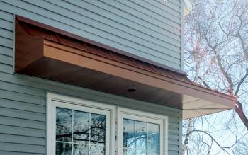 Concave Standing Seam - Painted Copper